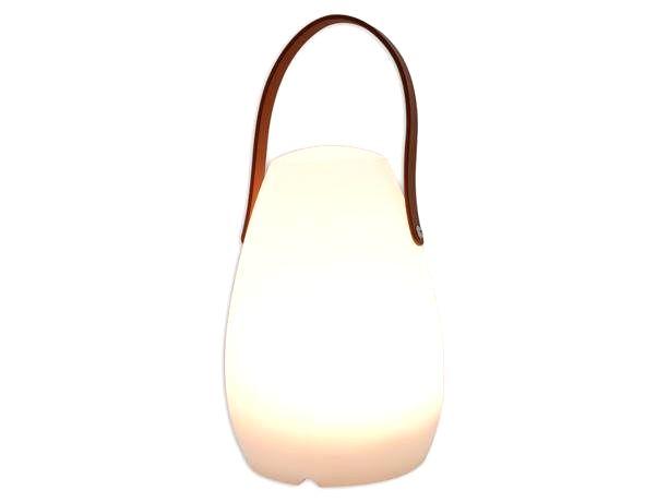 HIT LED Lampa 20cm kožená rukoväť