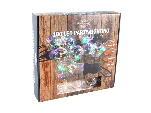 HIT Party osvetlenie 10x dúhová gule s časovačom 100LED 4
