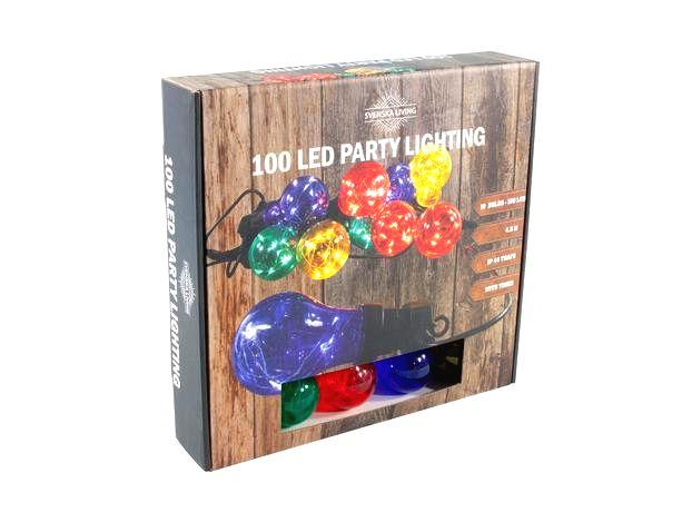 HIT Party osvetlenie 10x farebná gule s časovačom 100LED 4