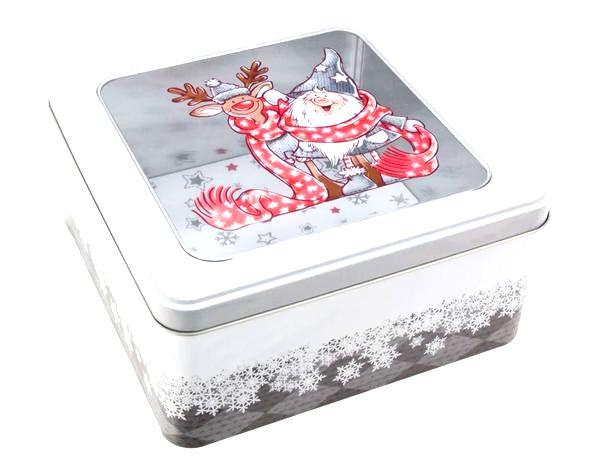 Dóza na vianočné pečivo 18x18x8