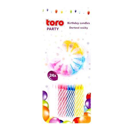 TORO Sviečky tortové 24 ks
