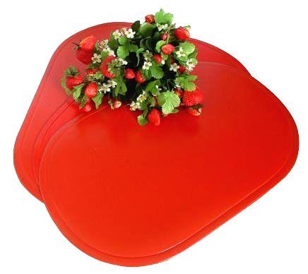 TORO Plastové prestieranie ovál TORO 29x44cm červené