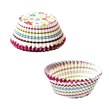 TORO Papierové košíčky na muffiny TORO 60ks kvety