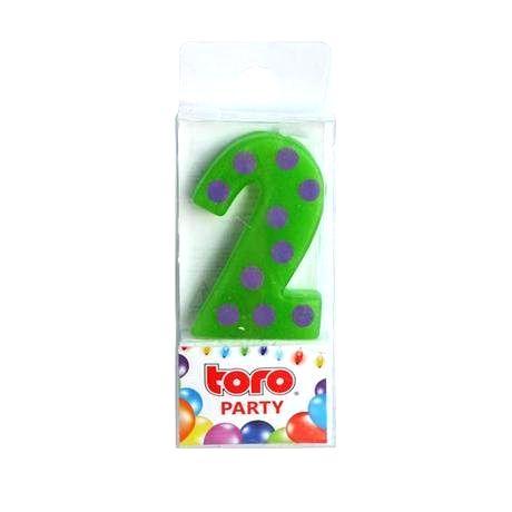 """TORO Sviečka tortová číslica """"2"""""""