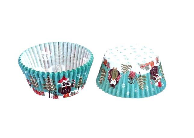 TORO Papierové košíčky na muffiny TORO 60ks sovy