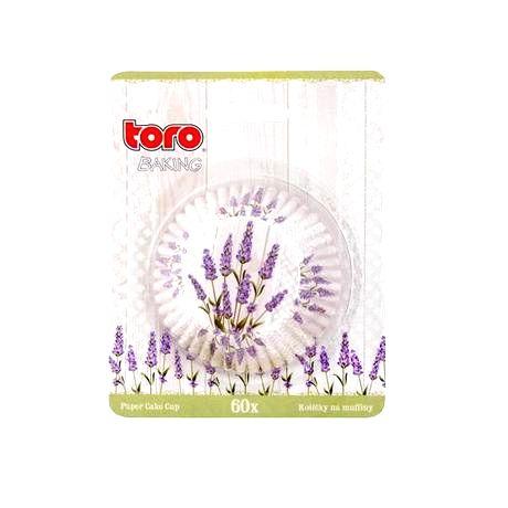 TORO Papierové košíčky na muffiny TORO 60ks levanduľa