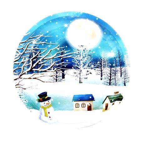 TORO Plechový podnos TORO 26cm vianočný