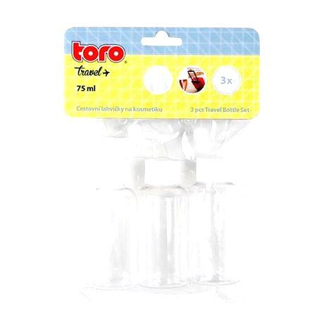 TORO Cestovná fľaša na kozmetiku TORO 3ks
