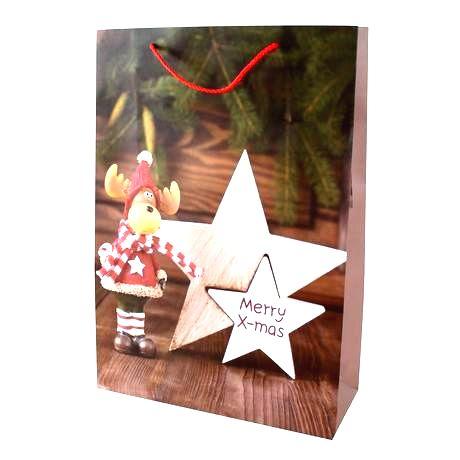 TORO Papierová vianočná dárčeková taška TORO 44x31x12cm assort