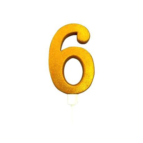 TORO Tortová sviečka číslica 6 Toro zapichovacia 16 cm