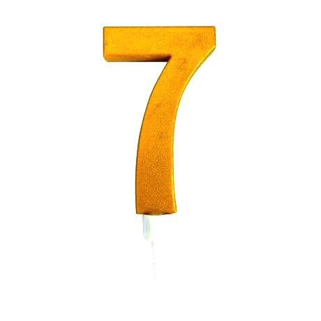 TORO Tortová sviečka číslica 7 Toro zapichovacia 16 cm
