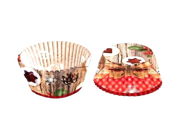 TORO Papierové košíčky na muffiny Toro 60 ks linecké