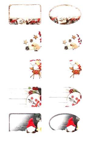 TORO Dárčekové nálepky TORO 96ks vianočný