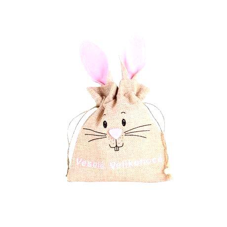 TORO Látková veľkonočná taška TORO 15x25cm králik