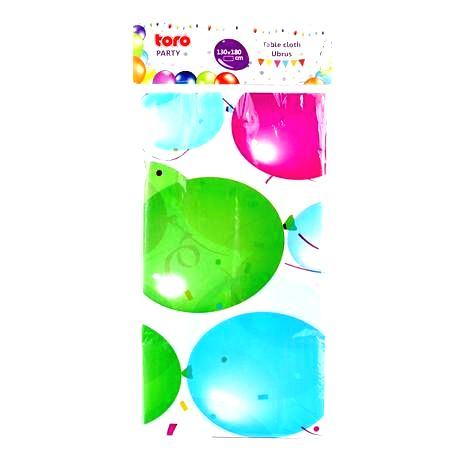 TORO Plastový party obrus TORO 130x180cm balóniky