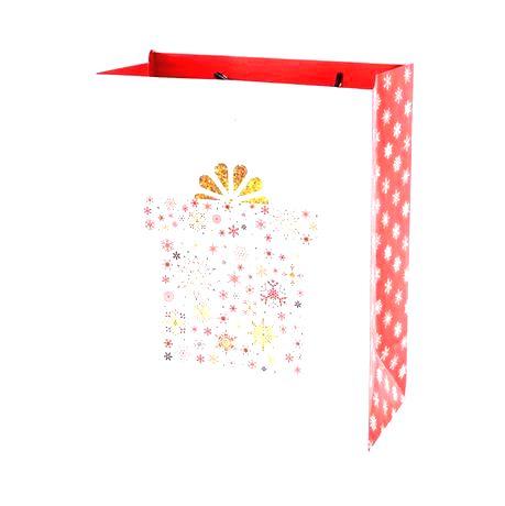 TORO Papierová dárčeková taška TORO 23x18x10cm kvety assort
