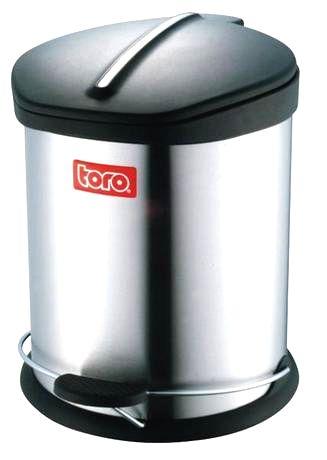 TORO Nerezový nášľapný kôš na odpadky TORO 5l