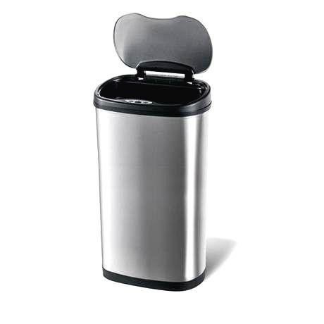 TORO Nerezový odpadkový kôš na triedený odpad Toro so senzorom 50 l