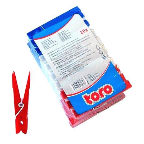 TORO Plastové štipce na bielizeň TORO 20ks