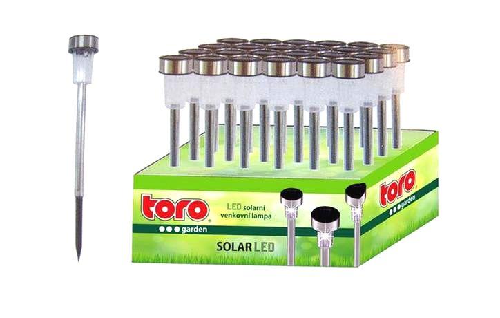 TORO Solárne vonkajšie LED svetlo TORO