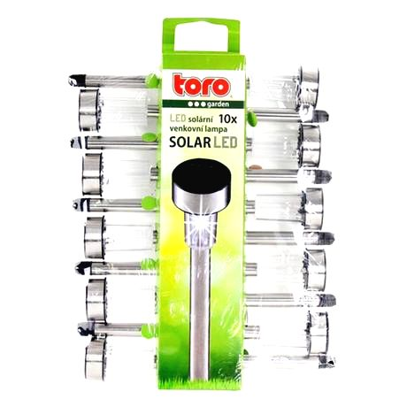 TORO Solárne vonkajšie LED svetlo TORO 10ks