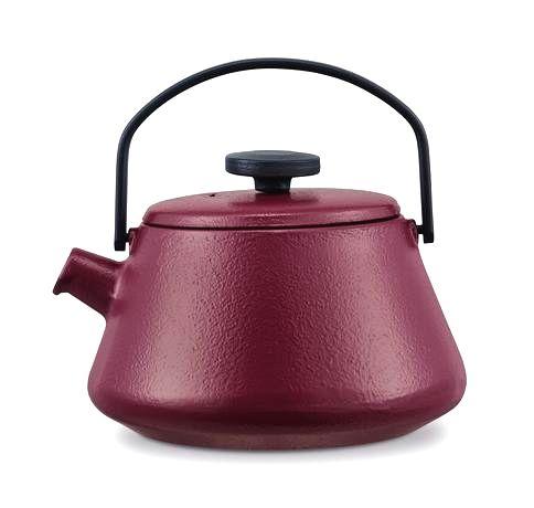 BRABANTIA Liatinová kanvica na čaj Brabantia T-TIME červená