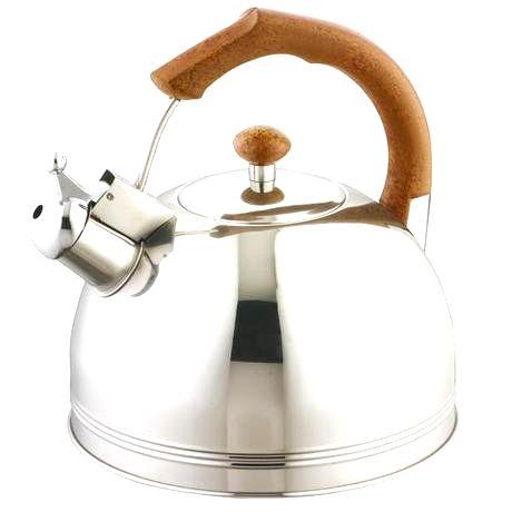 TORO Nerezová kanvica na čaj 3 l s rukoväťou v dekore dreva