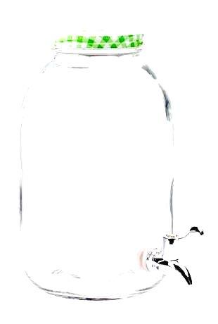 TORO Sklenený pohár s kohútikom TORO 5l