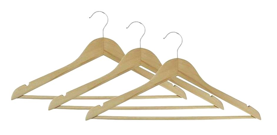 TORO Drevené ramienko na šaty TORO 3ks