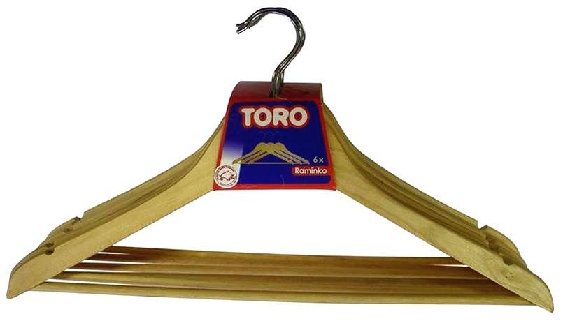TORO Drevené ramienko na šaty TORO 6ks