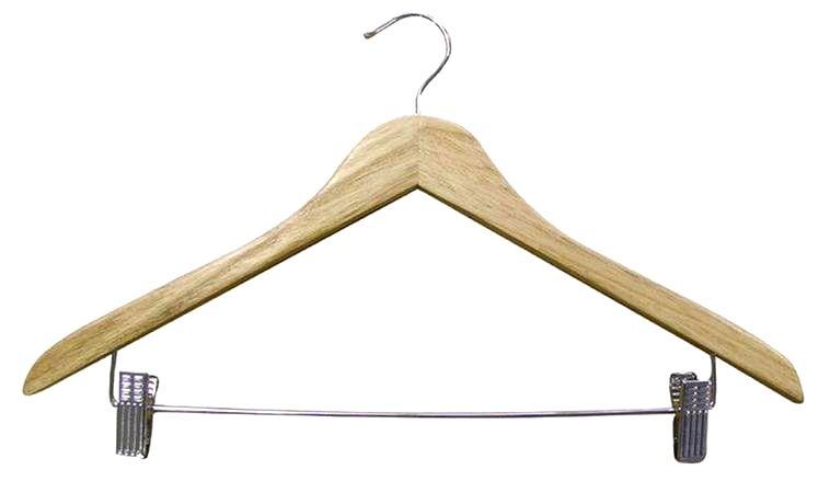 TORO Drevené ramienko na šaty a nohavice TORO