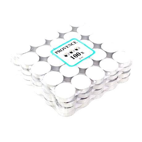 Provence Čajová sviečka PROVENCE 100ks biela