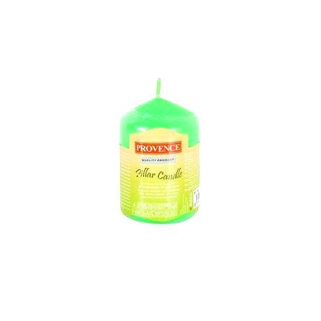 Provence Neparfumovaná sviečka Provence 8 cm zelená