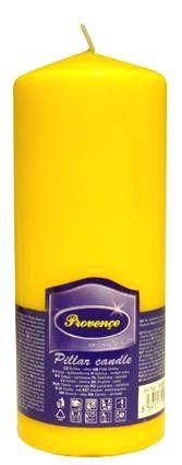 Provence Neparfumovaná sviečka PROVENCE 16cm žltá
