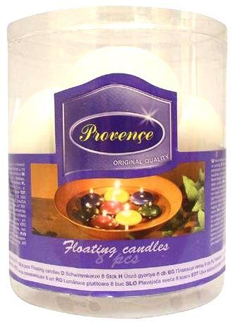 Provence Neparfumovaná plávajúce sviečka PROVENCE 8ks biela