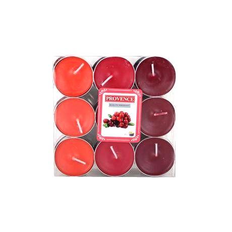Provence Čajová sviečka PROVENCE 18ks brusnica