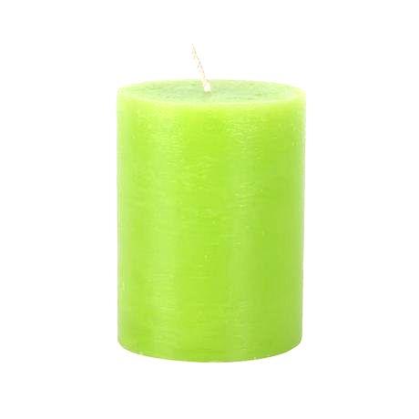Provence Rustikálna sviečka 10cm PROVENCE zelená