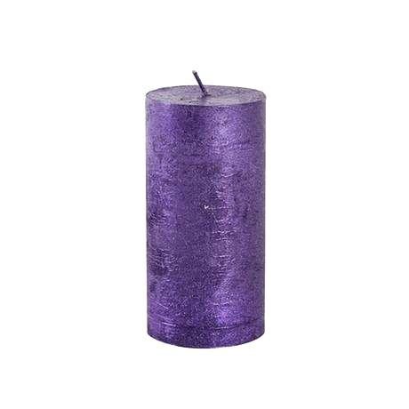 Provence Rustikálna sviečka 12cm PROVENCE fialová