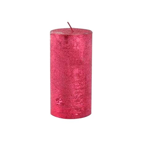 Provence Rustikálna sviečka 12cm PROVENCE červená