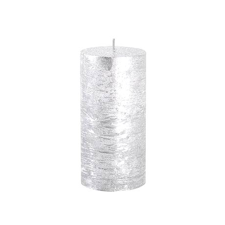 Provence Rustikálna sviečka 12cm PROVENCE strieborná