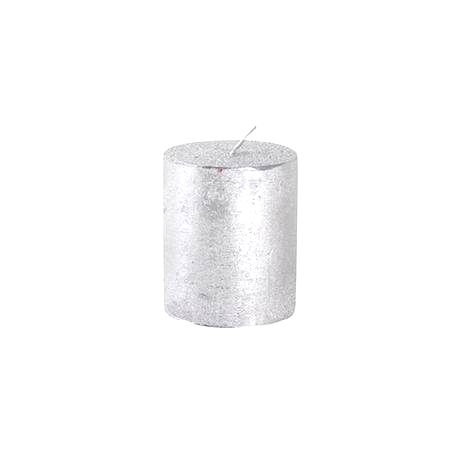 Provence Rustikálna sviečka 7cm PROVENCE strieborná