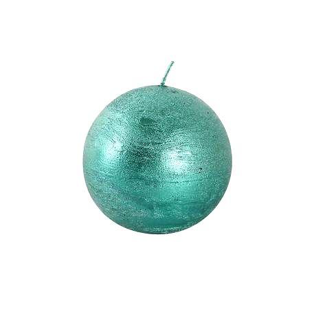 TORO Rustikálna sviečka guľa 8cm PROVENCE zelená