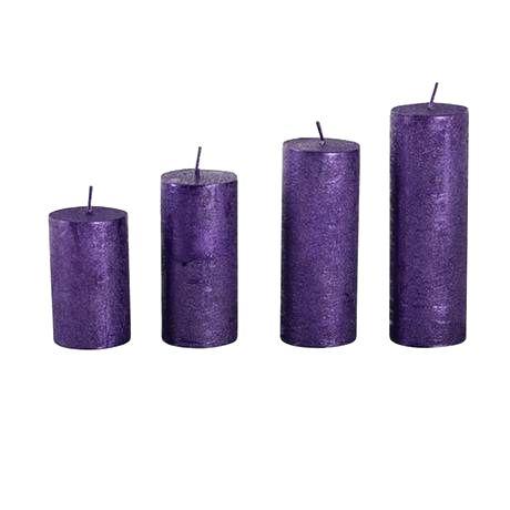 Provence Rustikálna adventná sviečka ø4cm PROVENCE 4 velikosti fialová