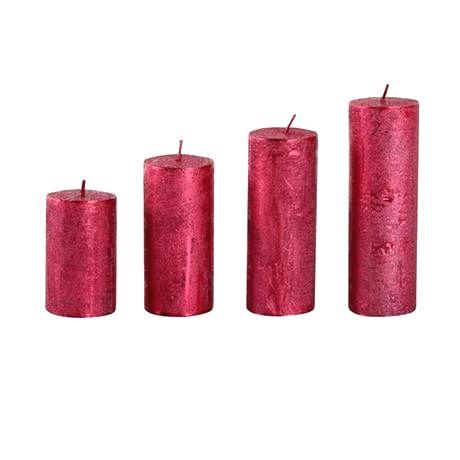 Provence Rustikálna adventná sviečka ø4cm PROVENCE 4 velikosti červená