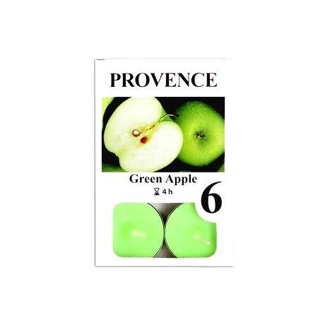 Provence Čajová sviečka PROVENCE 6ks jablko