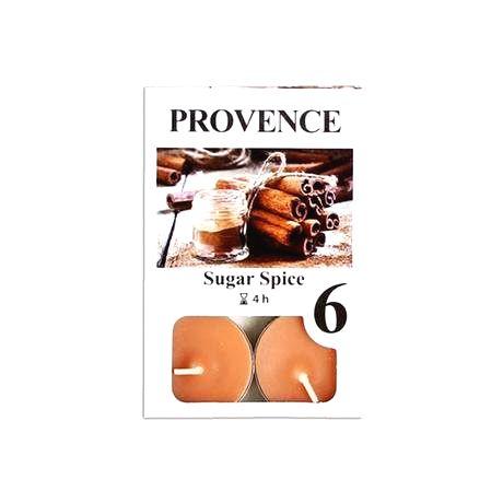 Provence Čajová sviečka PROVENCE 6ks sladké korenie