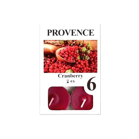 Provence Čajová sviečka PROVENCE 6ks brusnica