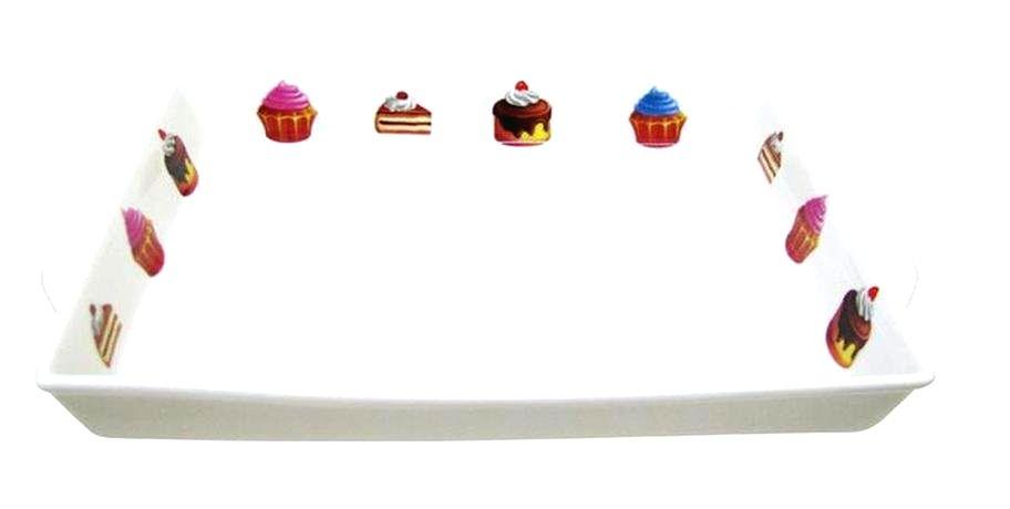 TORO Tácka obdĺžniková s dekorom tortičky; 27