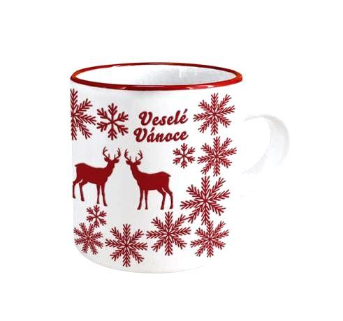TORO Keramický hrnček TORO 140ml vianočný jeleň