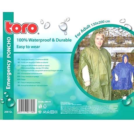 TORO Poncho pláštenka pre dospelých TORO 130x200cm